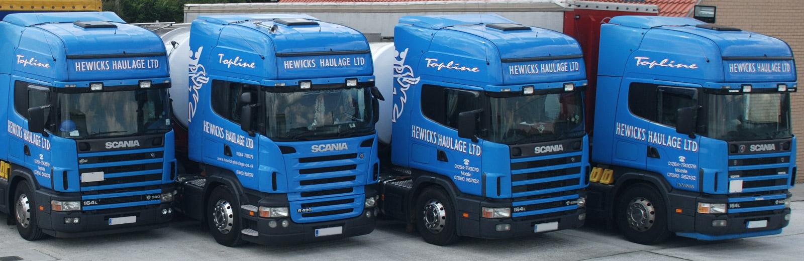 Hewicks Haulage Fleet